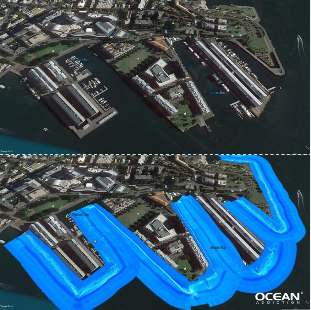 Ocean Addiction | Side Scan Analysis - Sydney Wharves
